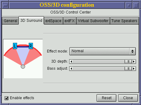 Screenshot of OSS/3D
