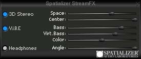 Screenshot of Spatializer